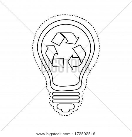 bulb save eco icon stock, vector illustration design image