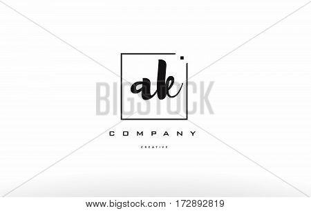 Ak A K Hand Writing Letter Company Logo Icon Design