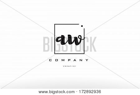 Aw A W Hand Writing Letter Company Logo Icon Design