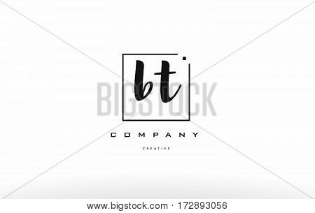 Bt B T Hand Writing Letter Company Logo Icon Design
