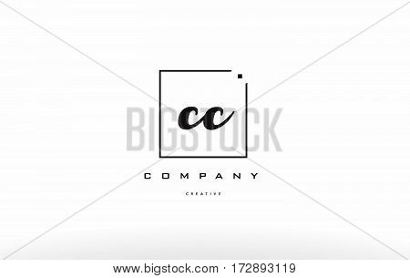 Cc C C Hand Writing Letter Company Logo Icon Design