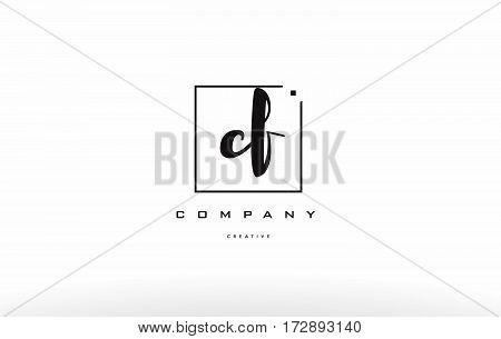 Cf C F Hand Writing Letter Company Logo Icon Design