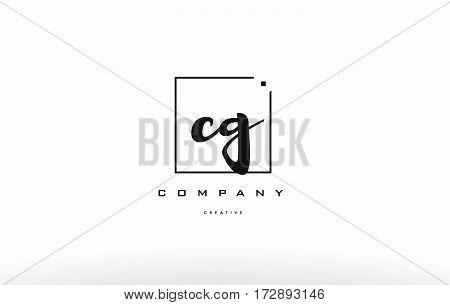 Cg C G Hand Writing Letter Company Logo Icon Design