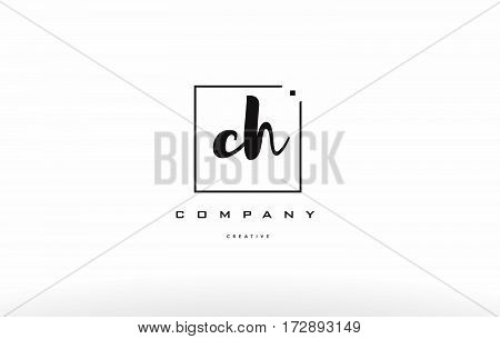 Ch C H Hand Writing Letter Company Logo Icon Design
