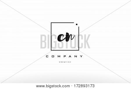 Cn C N Hand Writing Letter Company Logo Icon Design
