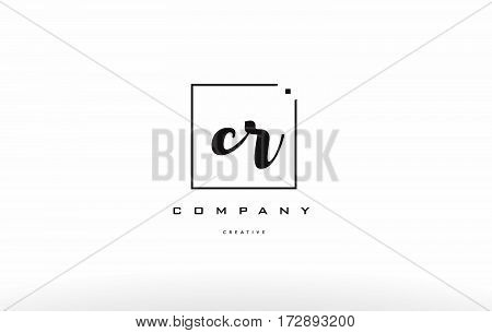 Cr C R Hand Writing Letter Company Logo Icon Design