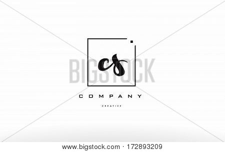 Cs C S Hand Writing Letter Company Logo Icon Design