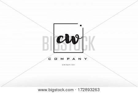 Cw C W Hand Writing Letter Company Logo Icon Design