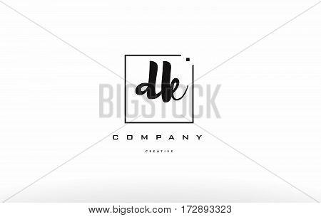 Dk D K Hand Writing Letter Company Logo Icon Design
