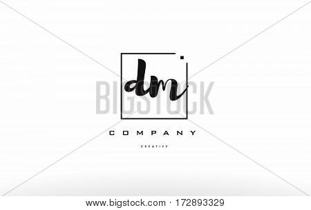 Dm D M Hand Writing Letter Company Logo Icon Design