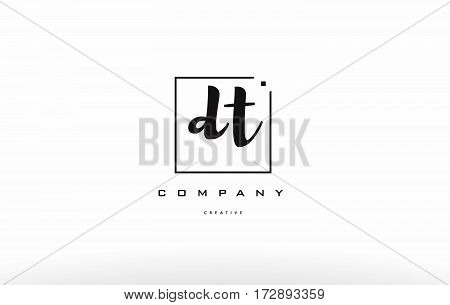 Dt D T Hand Writing Letter Company Logo Icon Design
