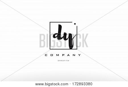 Dy D Y Hand Writing Letter Company Logo Icon Design
