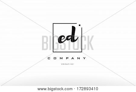 Ed E D Hand Writing Letter Company Logo Icon Design