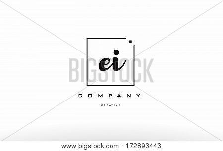 Ei E I Hand Writing Letter Company Logo Icon Design