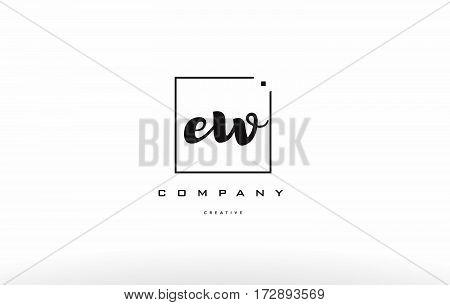 Ew E W Hand Writing Letter Company Logo Icon Design