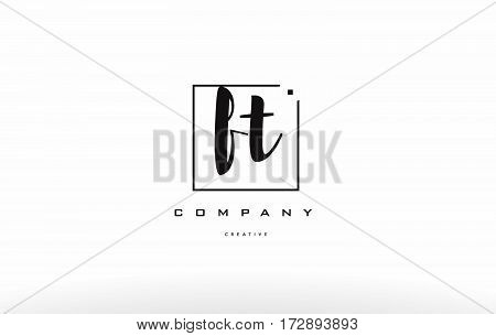Ft F T Hand Writing Letter Company Logo Icon Design