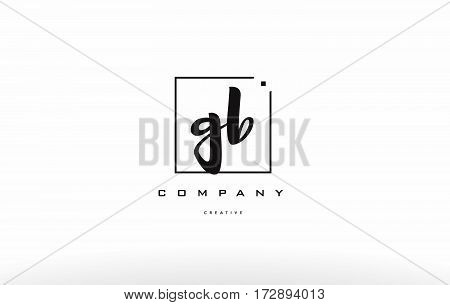 Gb G B Hand Writing Letter Company Logo Icon Design