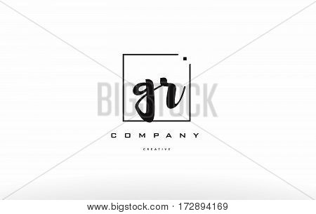 Gr G R Hand Writing Letter Company Logo Icon Design