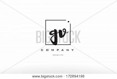 Gv G V Hand Writing Letter Company Logo Icon Design