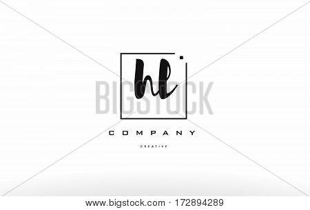 Hl H L Hand Writing Letter Company Logo Icon Design