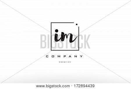 Im I M Hand Writing Letter Company Logo Icon Design