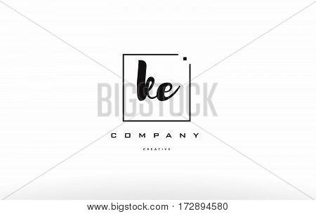 Ke K E Hand Writing Letter Company Logo Icon Design