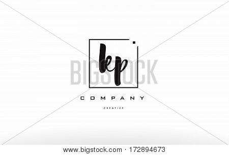 Kp K P Hand Writing Letter Company Logo Icon Design