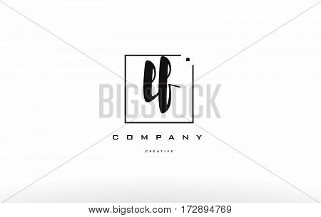 Lf L F Hand Writing Letter Company Logo Icon Design