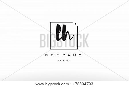 Lh L H Hand Writing Letter Company Logo Icon Design