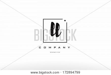 Ll L  Hand Writing Letter Company Logo Icon Design