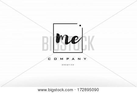 Me M E Hand Writing Letter Company Logo Icon Design