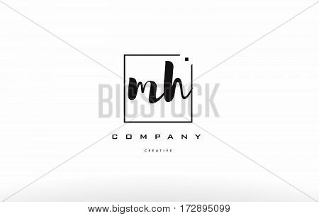Mh M H Hand Writing Letter Company Logo Icon Design