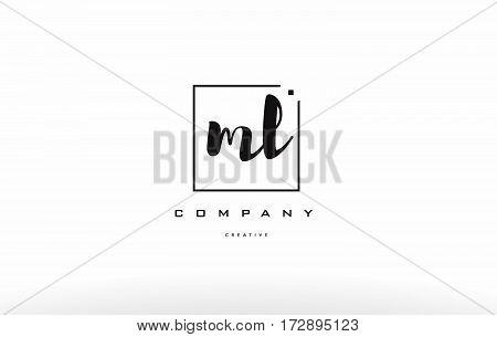 Ml M L Hand Writing Letter Company Logo Icon Design