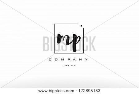 Mp M P Hand Writing Letter Company Logo Icon Design