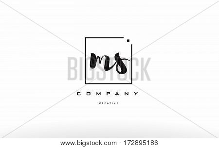 Ms M S Hand Writing Letter Company Logo Icon Design