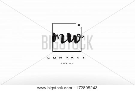 Mw M W Hand Writing Letter Company Logo Icon Design