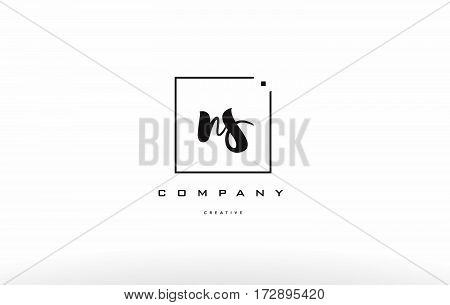 Ns N S Hand Writing Letter Company Logo Icon Design