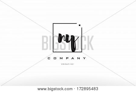 Ny N Y Hand Writing Letter Company Logo Icon Design