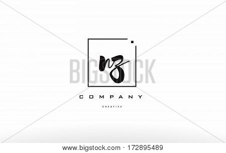 Nz N Z Hand Writing Letter Company Logo Icon Design