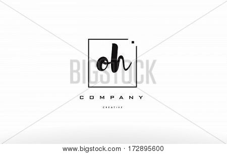 Oh O H Hand Writing Letter Company Logo Icon Design