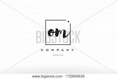Om O M Hand Writing Letter Company Logo Icon Design