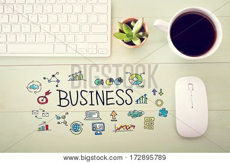 Business Concept With Workstation