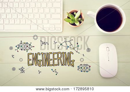 Engineering Concept With Workstation