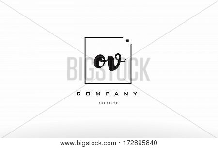 Ov O V Hand Writing Letter Company Logo Icon Design