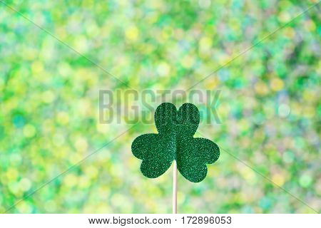 Saint Patricks Day Shiny Green Clover
