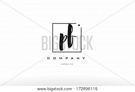Pf P F Hand Writing Letter Company Logo Icon Design