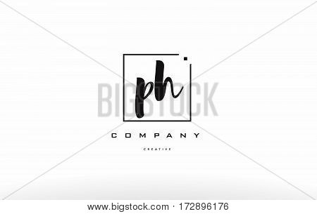 Ph P H Hand Writing Letter Company Logo Icon Design
