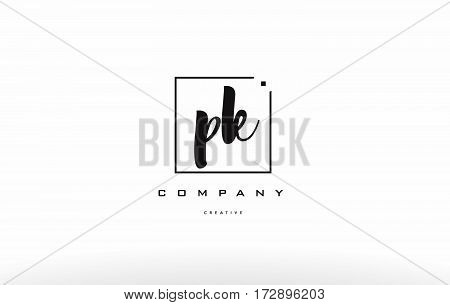 Pk P K Hand Writing Letter Company Logo Icon Design