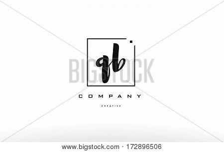 Qb Q B Hand Writing Letter Company Logo Icon Design