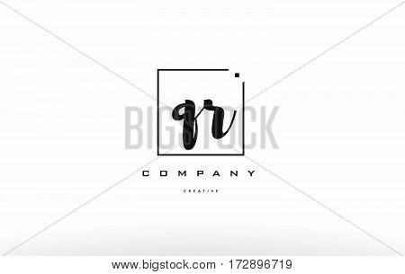 Qr Q R Hand Writing Letter Company Logo Icon Design